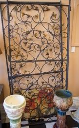 Iron gates - gold décor