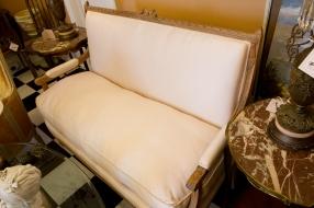 Silk covered walnut - Louis XVI