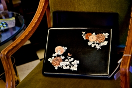 Vintage Japanese lacquered writing box