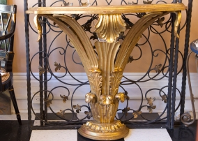 Gilt wood console table