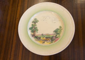 $35 Vintage Dish. Clarice Cliff Newport Pottery - Costwold Pattern Circa 1940.