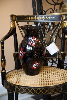 $45 Black amethyst vase 1950s