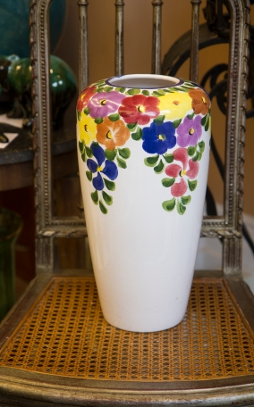 Floor Vase with Pansy Design
