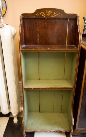 $325 Grain-painted bookshelf. Canadiana 19th century