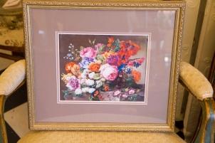 """$75 """"Corbeille de Fleurs"""" print by Austrian artist Joseph Nigg"""